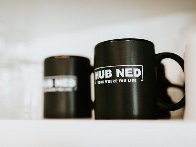 Day Pass mugs at Hub Ned