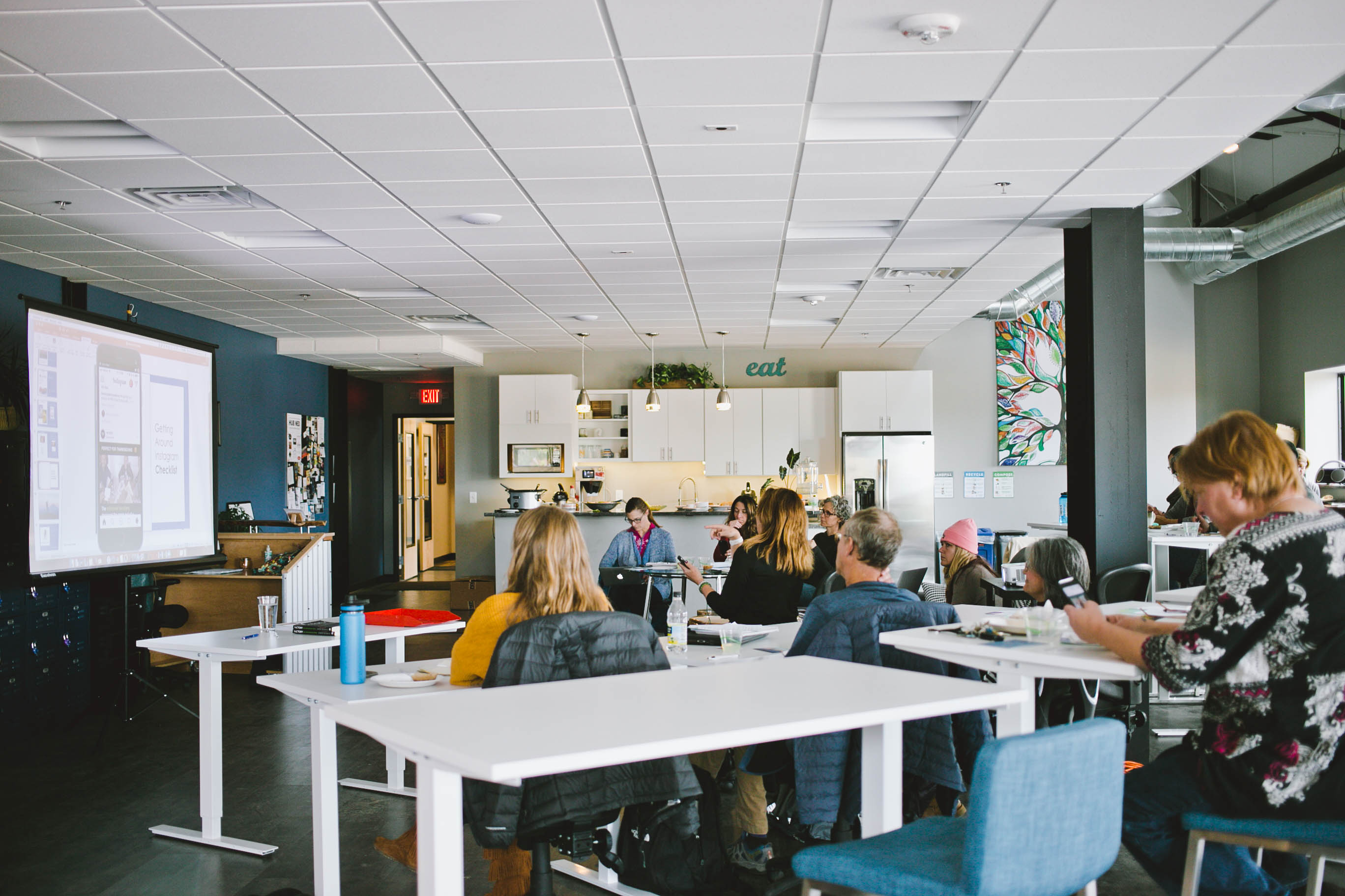 Free Instagram marketing workshop at Hub Ned in the mountains of Colorado.