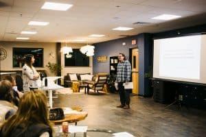 Instagram analytics marketing workshop at Hub Ned Coworking in Nederland, Colorado.